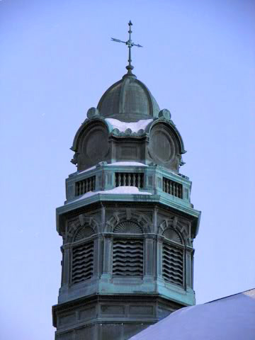 The Pennhurst Admin cupola before scrappers removed the siding